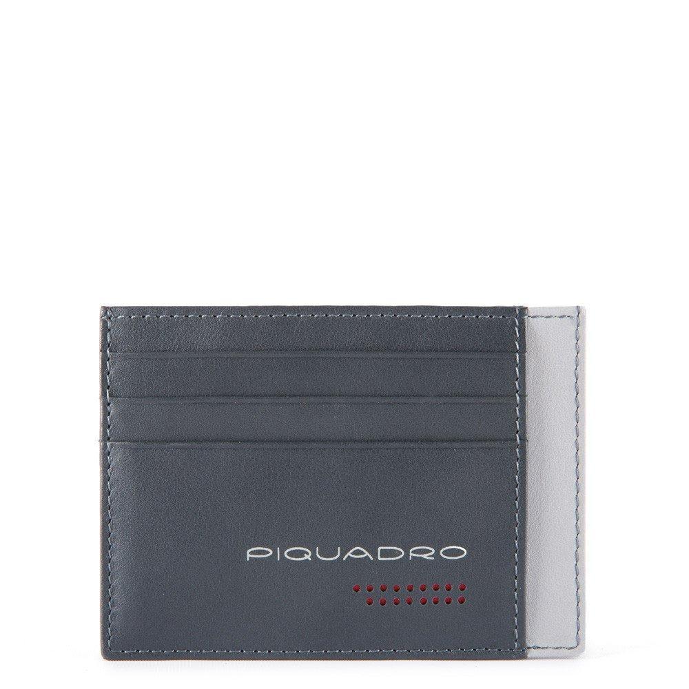 Piquadro Bustina Porta Carte Di Credito Tascabile Grigio/nero PP2762UB00R