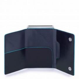 Compact Wallet Per Banconote E Carte Di Credito Blu Notte Piquadro PP4891B2R/BLU