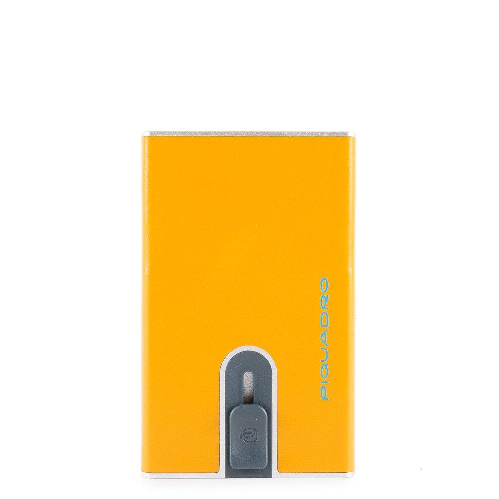 Compact Wallet Per Banconote E Carte Di Credito Giallo 8 Piquadro PP4891B2R/G8