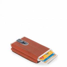 Porta Carte Di Credito Metallico Orgz.to In Pelle Arancio Piquadro PP4891B3R/AR