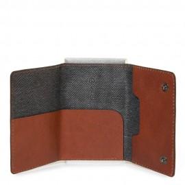 Piquadro Compact Wallet Per Banconote E Carte Di Credito Cuoio Tabacco PP4891B3R/CU PIQUADRO PORTAFOGLIO PORTACARTE