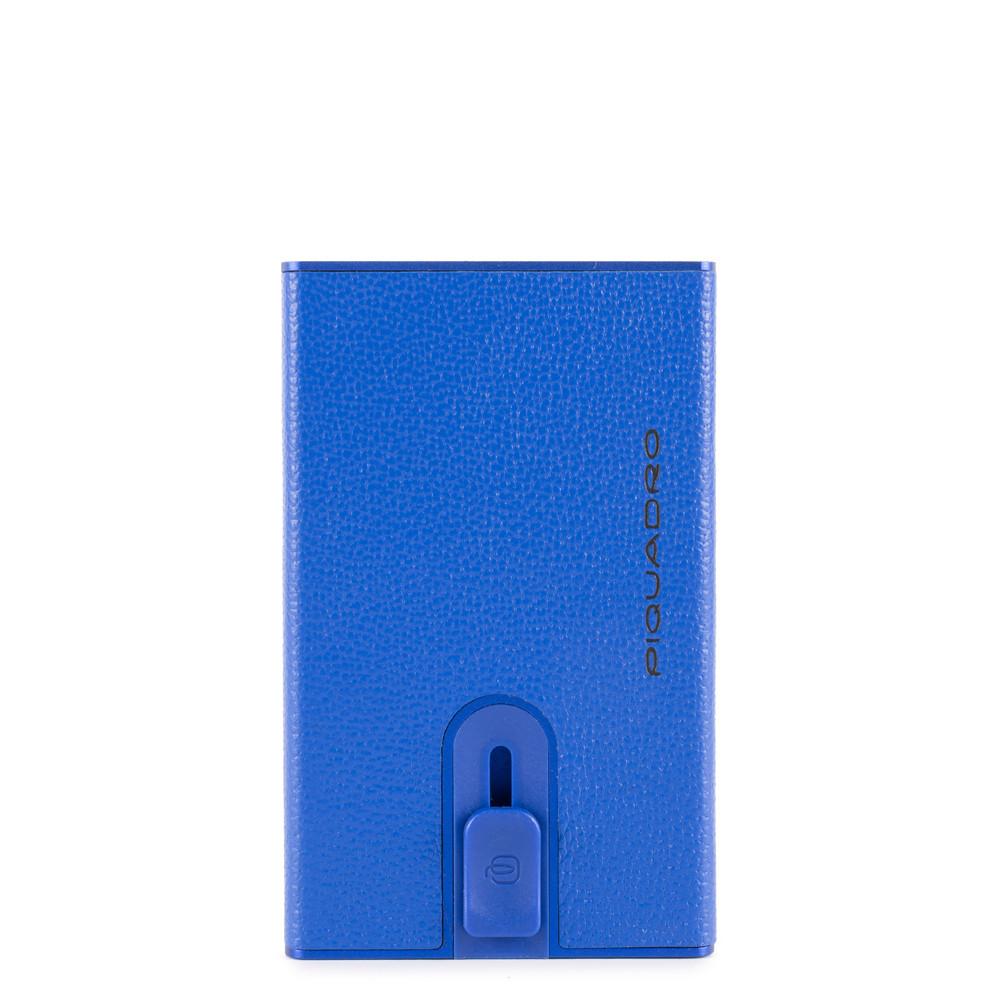 Compact Wallet Per Banconote E Carte Di Credito Blu Elettrico Piquadro PP4891EMR/BLU