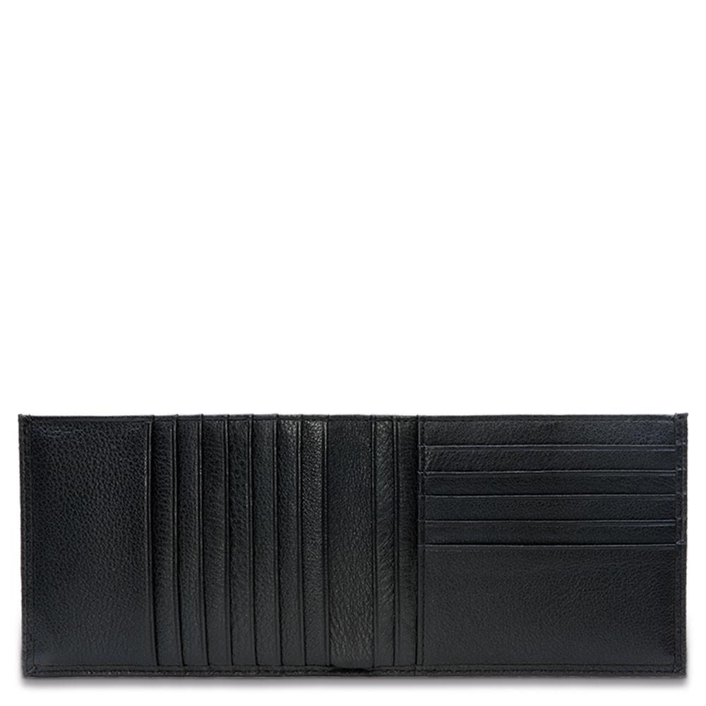 Piquadro Portafoglio Uomo Con 12 Porta Carte Di Credito Nero PU1241MO