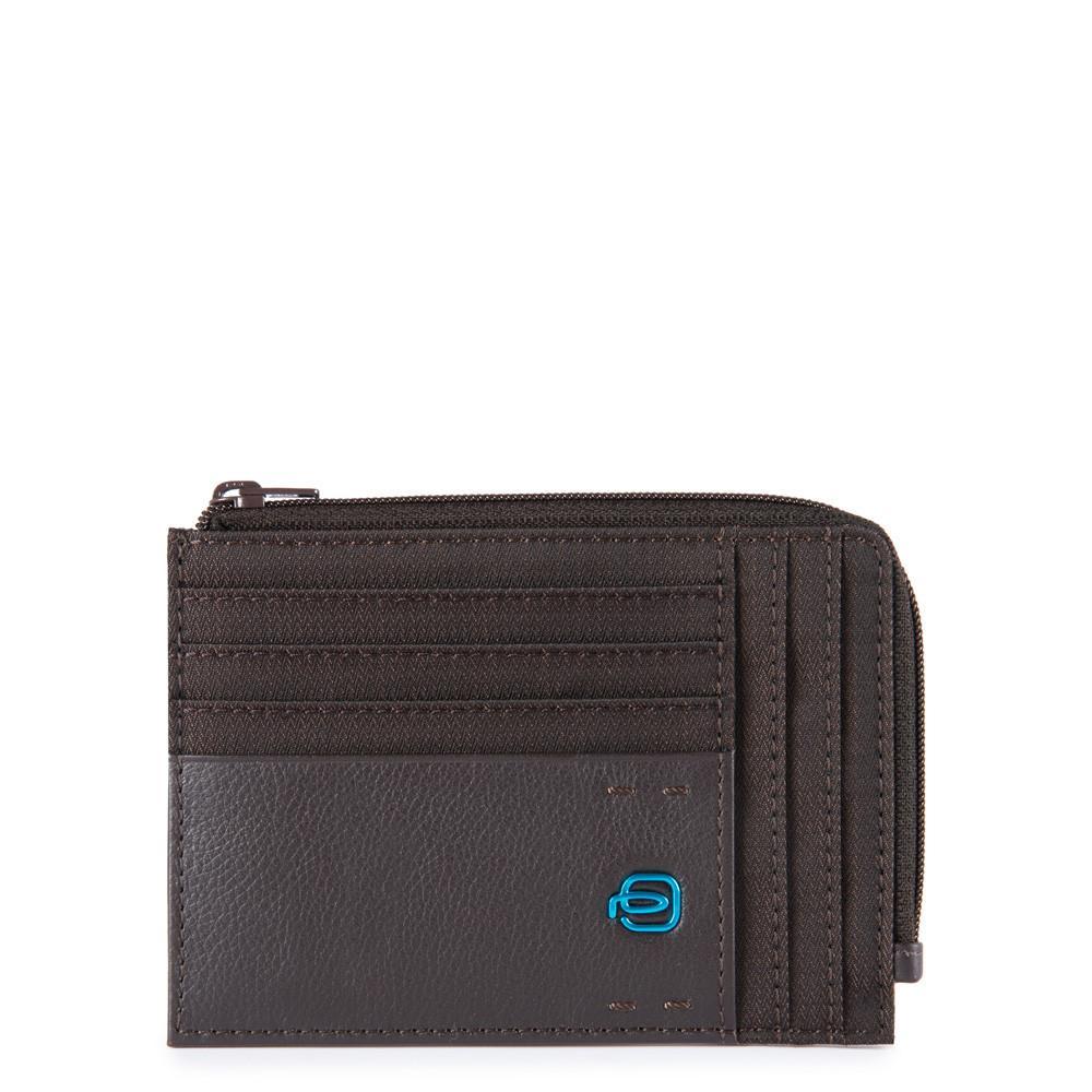 Piquadro Bustina Portamonete, Documenti E Carte Di Credito Chevron/testa Di Moro PU1243P16