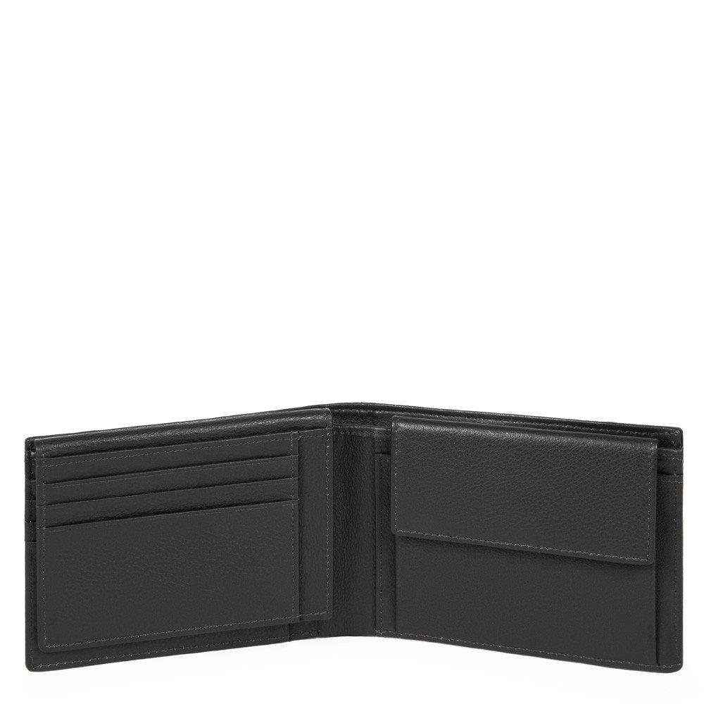 Piquadro Portafoglio Uomo Con Porta Documenti, Portamonete Chevron/nero PU1392P16