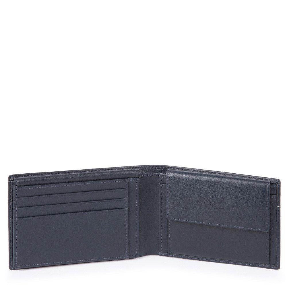 da28b0e0b7 Piquadro Portafoglio Uomo Con Porta Documenti, Portamonete, Blu PU1392UB00R