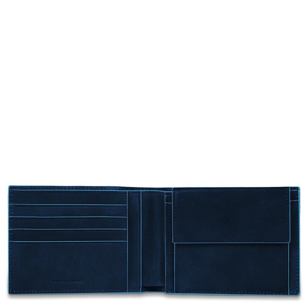 bb3b5a6b59 Piquadro Portafoglio Uomo Con Portamonete Blu Notte PU257B2R