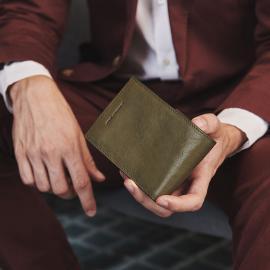 Piquadro Portafoglio Uomo Con Portamonete Cuoio Tabacco PU257B3R