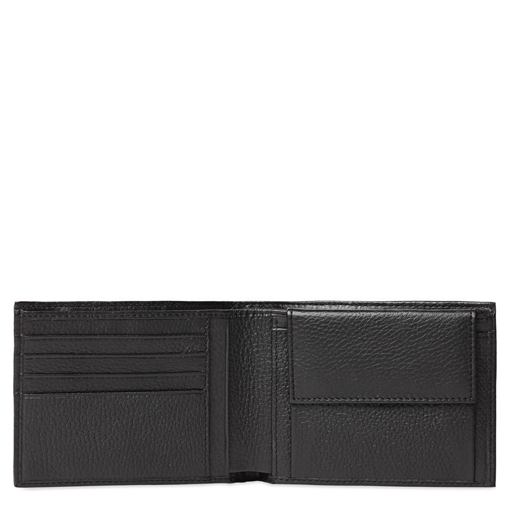 Piquadro Portafoglio Uomo Con Portamonete Nero PU257MO
