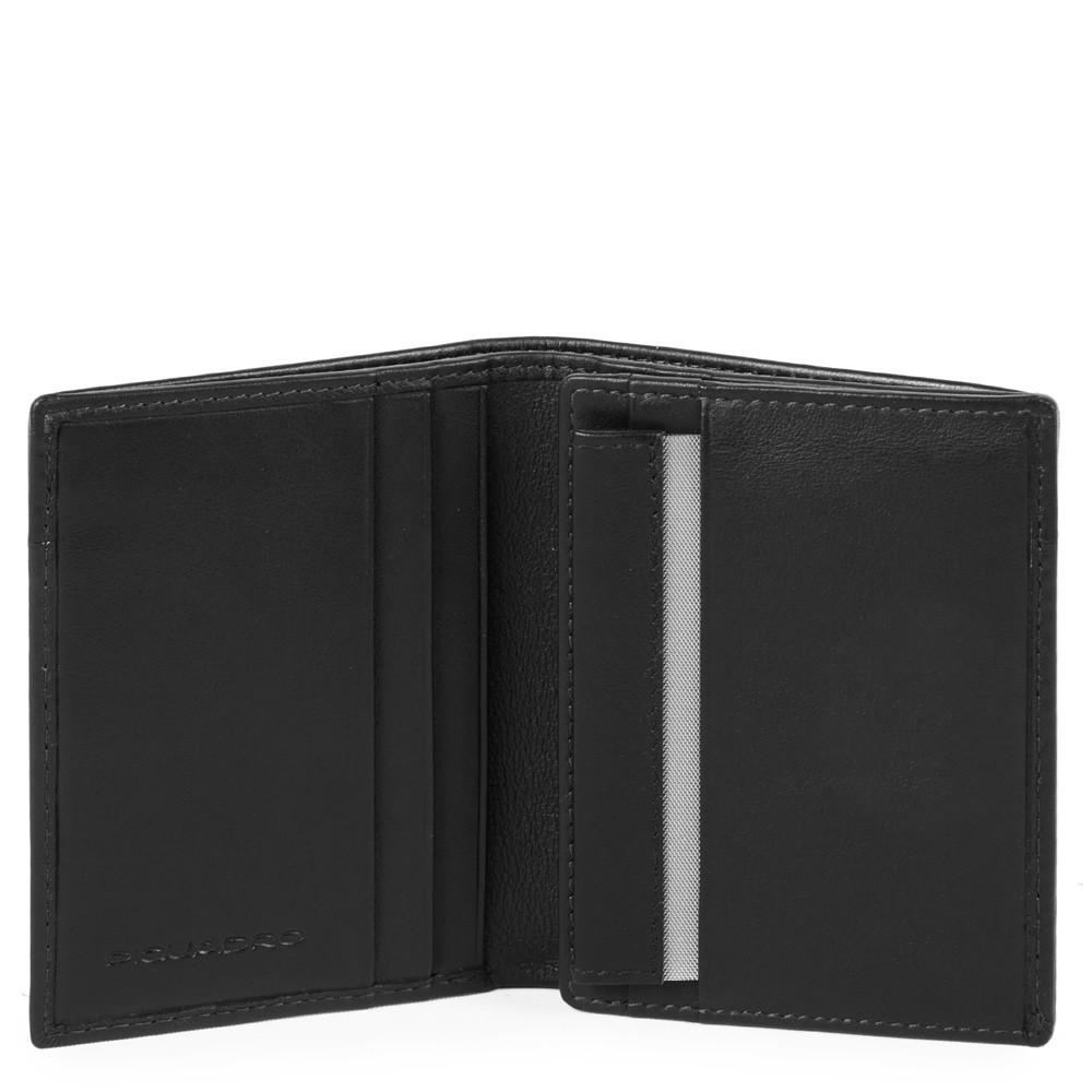 Piquadro Portafoglio Uomo Con Portamonete, Porta Carte Di Nero PU3244UB00R