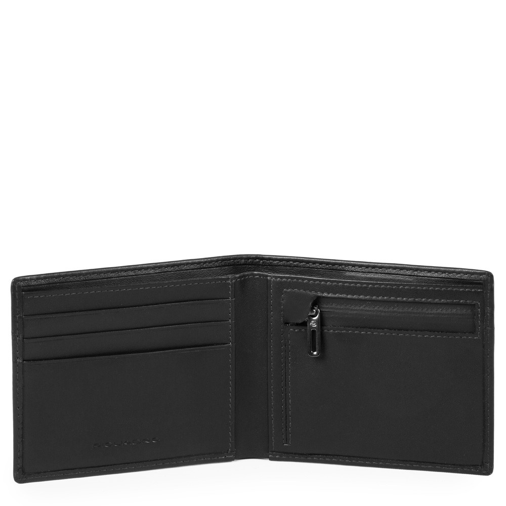 Piquadro Portafoglio Uomo Sottile Con Portamonete Nero PU4823UB00R