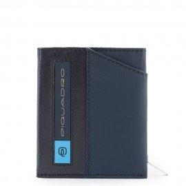 Portafoglio Compatto Super Sottile In Nylon Blu Oltremare Piquadro PU5114BIO/BLU