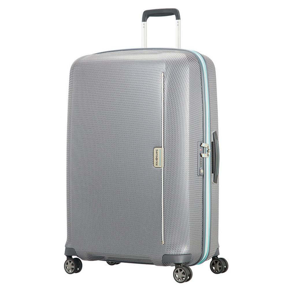 Samsonite Mixmesh Spinner (4 Ruote) 75Cm Grey/capri Blue