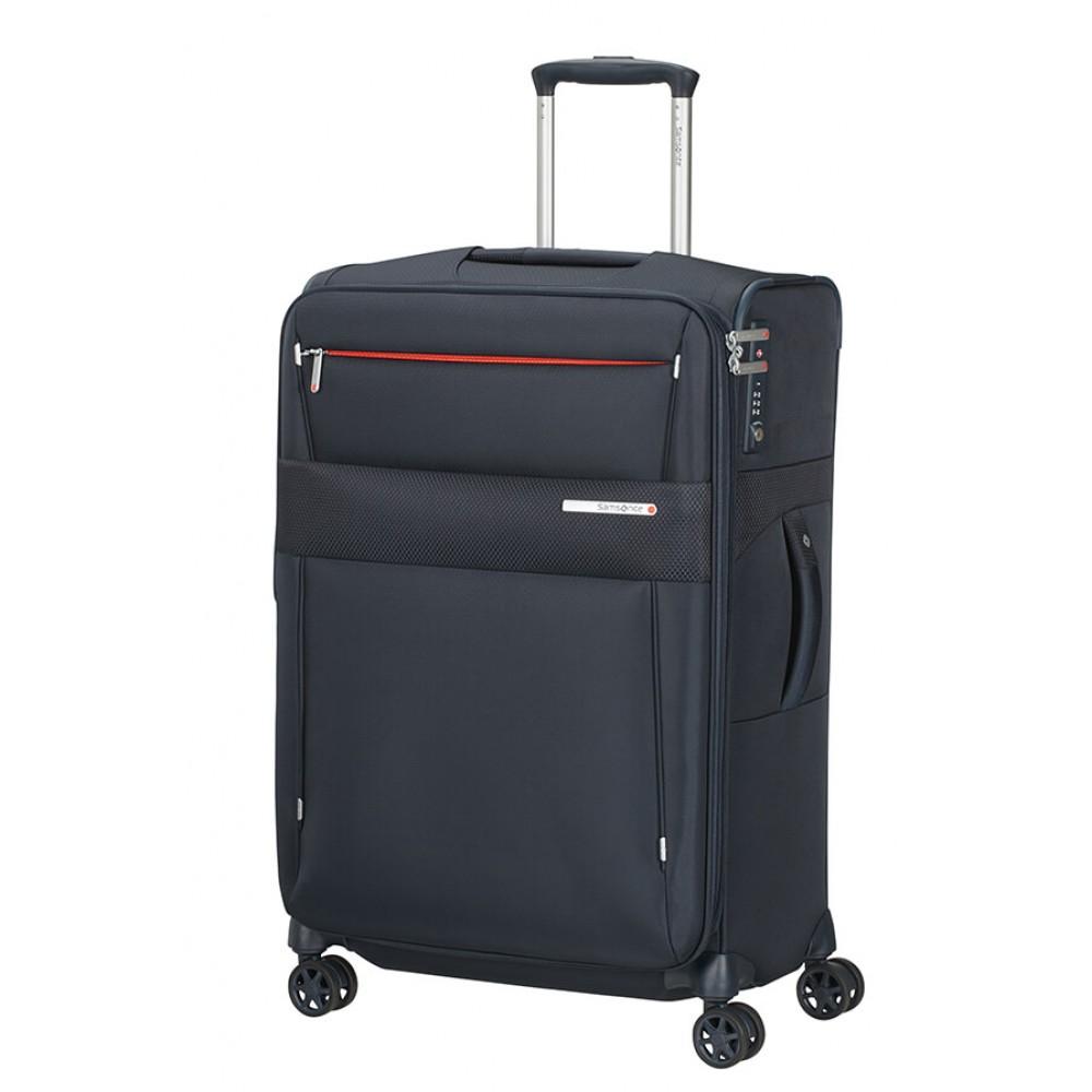 Samsonite Duopack Trolley Espandibile (4 Ruote) 67Cm Blu 128591-1090 KA301002 samsonite bagaglio medio duopack blu