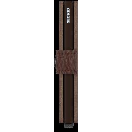 Secrid Miniwallet Stitch Linea Espresso