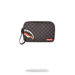 Sprayground Sharks In Paris (Black Checkered Edition) Toiletry Aka Money Bags 910B2905NSZ SPRAYGROUND POCHETTE BEAUTY