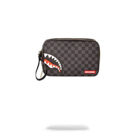 Sprayground Sharks In Paris (Black Checkered Edition) Toiletry Aka Money Bags 910B2905NSZ SPRAYGROUND POCHETTE BEAUTY