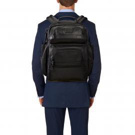 Tumi Brief Pack® En Cuir Business Class Tumi T-Pass® Noir