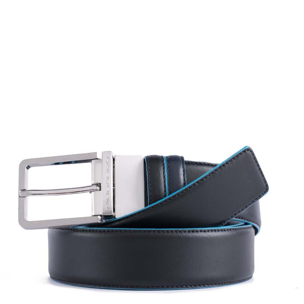 comprare popolare 41781 9b098 Piquadro Cintura Uomo Reversibile Con Fibbia Ad Ardiglione Nero - Blu  CU2619B2/NBLU2